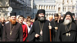 Georgian priests lead anti-cannabis march
