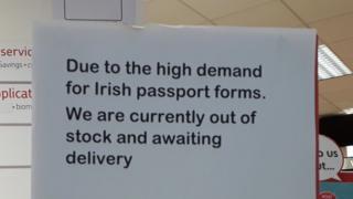 Sign in Belfast Post Office