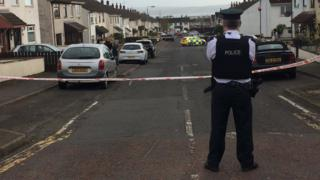 Scene of shooting in Carrickfergus