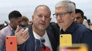 Sir Jony Ive and Apple chief executive Tim Took.