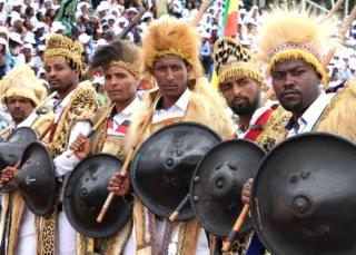 Traditional Oromo men