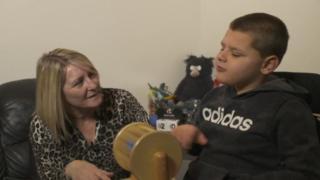 Dawn with her grandson Brogan