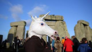 unicorn head at stonehenge