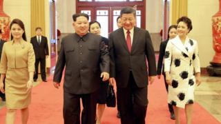 金正日访问北京,与习近平会谈。