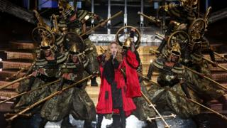 Madonna performs on the Rebel Heart tour