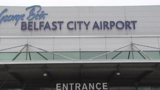 The drugs were discovered at George Best Belfast City Airport on Sunday