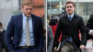Stuart Olding and Paddy Jackson