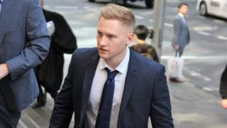 Sam Oliver outside court in Sydney