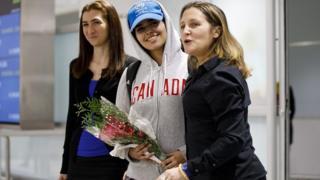 ورود دختر پناهجوی عربستانی به کانادا