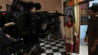 ایک ٹی وی ڈرامے کی ریکارڈنگ کا منظر (فائل فوٹو)