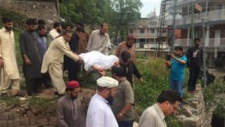 Maria Sadaqat was buried on Wednesday