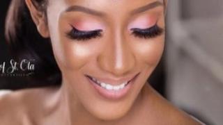 Model wey Jide St.Ola do makeup for.