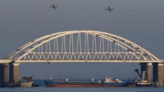 Puente de Kerch, el 25 de noviembre de 2018