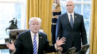 美国总统特朗普和副总统彭斯。