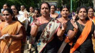 Women not allowed to go inside the Sabarimala temple, India