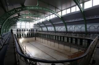 The gala pool area at Moseley Road Baths in 2020