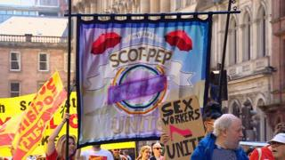 sex workers at May Day march