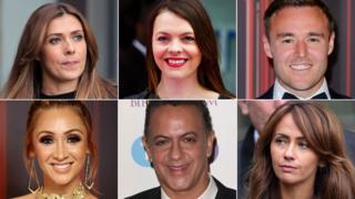 Kym Marsh, Kate Ford, Alan Halsall, Lucy-Jo Hudson, Jimmi Harkishin and Samia Ghadie