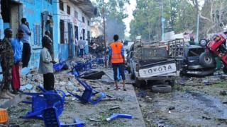 Di area for Mogadishu wey two bombs tear on Saturday October 28, 2017