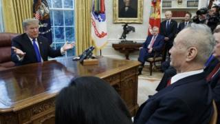 美國總統特朗普和中國副總理劉鶴