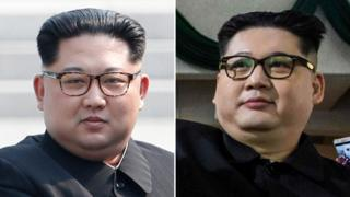 Kim Jong-un and a lookalike