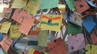 จดหมายและโปสการ์ดจากอินเดียที่โรงเรียนละฮอร์ ประเทศปากีสถาน