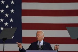 Biden gives speech