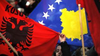 Косово, флаги