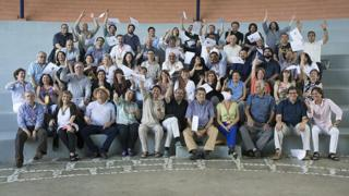 Grupo participante de Centroamérica Cuenta.