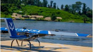 Drone at the Lake Kivu Challenge