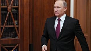 Russian President Vladimir Putin pictured in the Kremlin