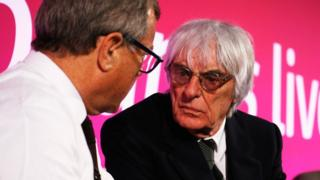 Bernie Ecclestone and Sir Martin Sorrell