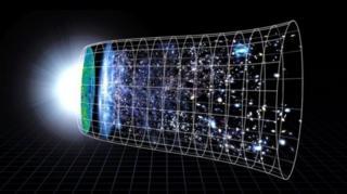 (ภาพจากฝีมือศิลปิน) เอกภพขยายตัวในอัตราเร่งนับแต่การระเบิดครั้งใหญ่หรือบิ๊กแบง