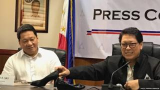 Philippines Labor Secretary Silvestre Bello III and Undersecretary Department of Labor and Employment (DOLE) Dominador Say