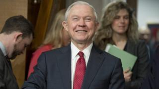 This file photo taken on February 2, 2017 shows US Senator Jeff Sessions, Republican of Alabama and nominee for US Attorney General