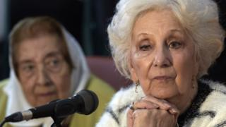 Estela de Carlotto, president of Argentine human rights organization Abuelas de Plaza de Mayo (Grandmothers of Plaza de Mayo)