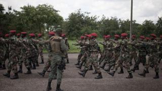 Des soldats de l'armée centrafricaine