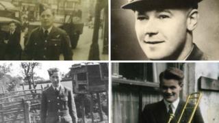 Four crewmen who died in the crash - Flt Sgt Ernest Hansom, Flt Lt Leonard West and aircraftmen Roy Ousley and Neville Jones