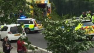 Northfleet accident scene