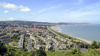 Colwyn Bay from above
