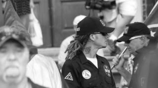 KKK member with dreadlocks