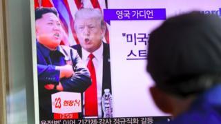 Kim Jong ve Trump televizyonda