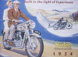 Poster advertising Norton motor bikes