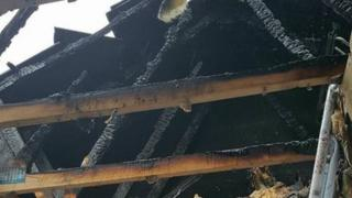 Fire damage in home of Dorrian family