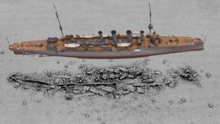 3D model of HMS Falmouth