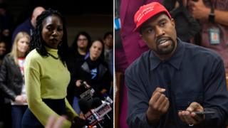 Amara Enyia and Kanye West