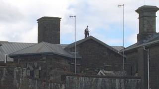 Prisoners on roof of Swansea