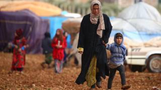 نازحون من مناطق القتال في محافظة حلب