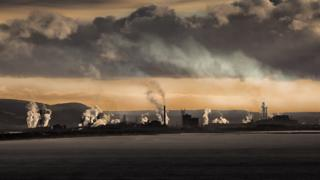 Tata steelworks in Port Talbot