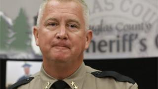 Douglas County Sheriff John Hanlin appears at a press conference on 3 October 2015